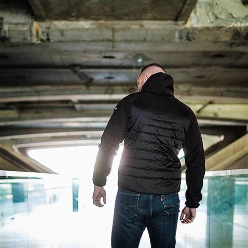 hochwertige Materialien im Angebot Schatz als seltenes Gut PG Wear Jacke Rebel mit Sturmhaube schwarz in Farbe Schwarz